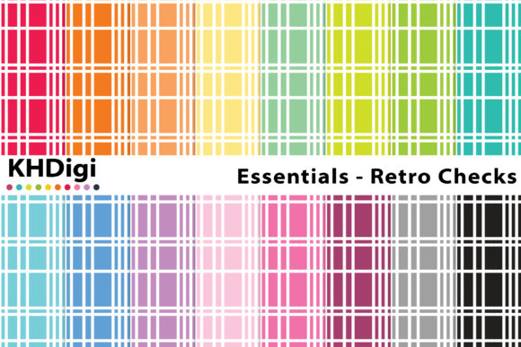Essentials Retro Checks Graphic By Khdigi Creative Fabrica