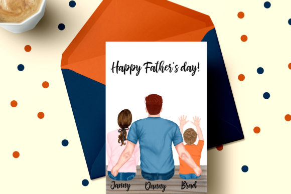 Father and Children,Father's Day Clipart Graphic Illustrations By LeCoqDesign - Image 5