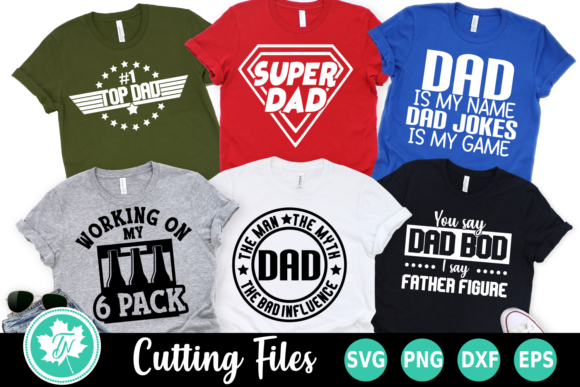 Father's Day Bundle Grafik Plotterdateien von TrueNorthImagesCA