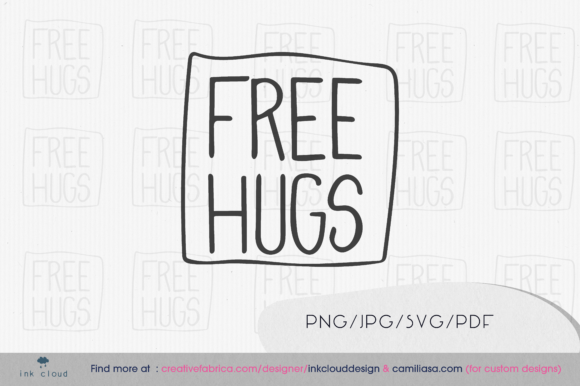 Download Free Free Hugs Pride Month Graphic By Inkclouddesign Creative Fabrica for Cricut Explore, Silhouette and other cutting machines.