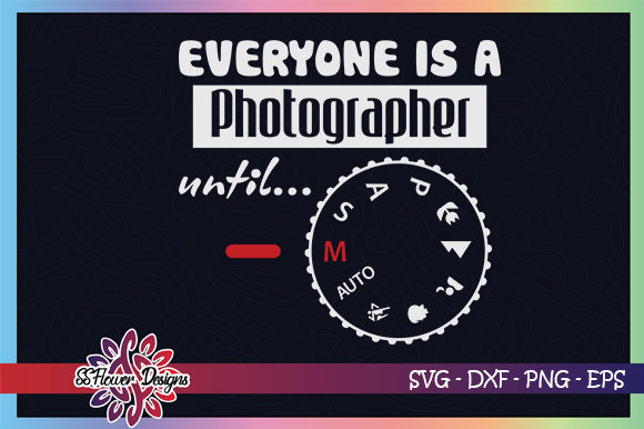 Download Free Funny Photographer M Mode Graphic By Ssflower Creative Fabrica for Cricut Explore, Silhouette and other cutting machines.