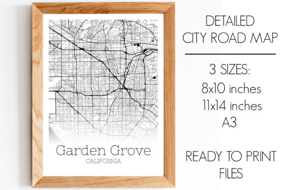 Print on Demand: Garden Grove California City Map Graphic Photos By SVGExpress