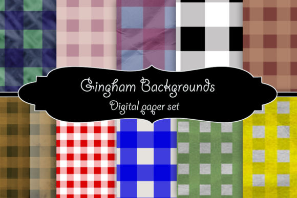 Download Free Gingham Backgrounds Digital Paper Graphic By A Design In Time for Cricut Explore, Silhouette and other cutting machines.