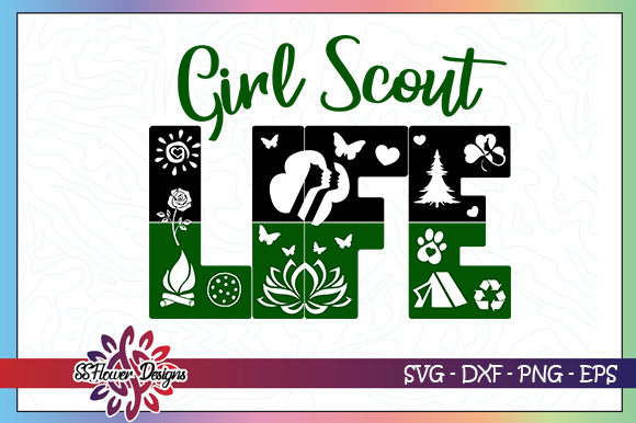 Download Free Girl Scout Life Graphic By Ssflower Creative Fabrica for Cricut Explore, Silhouette and other cutting machines.