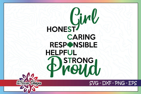 Download Free Girl Scout Proud Graphic By Ssflower Creative Fabrica for Cricut Explore, Silhouette and other cutting machines.