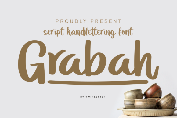 Download Free Grabah Font By Twinletter Creative Fabrica for Cricut Explore, Silhouette and other cutting machines.
