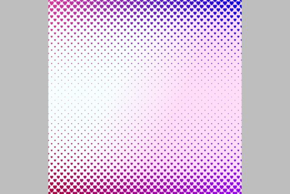 Gradient Heart Pattern Background Graphic Backgrounds By davidzydd