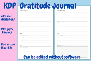 Print on Demand: Gratitude Journal for KDP Graphic KDP Interiors By Income Plum