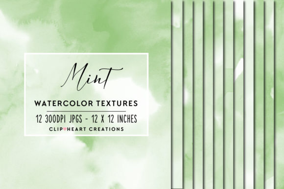 Green Watercolor Digital Papers Graphic Backgrounds By clipheartcreations