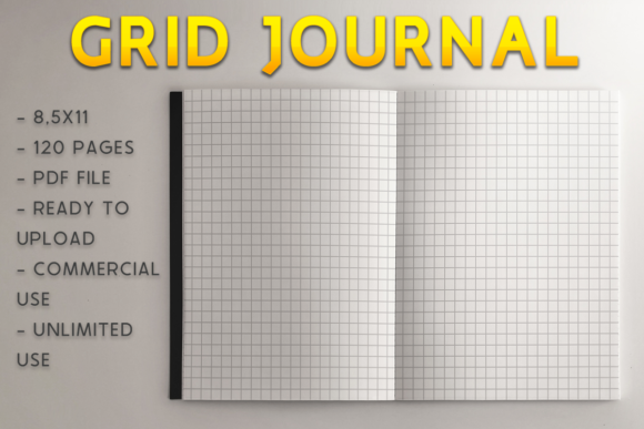 Print on Demand: Gridded Journal | KDP Template Graphic KDP Interiors By KDP Product