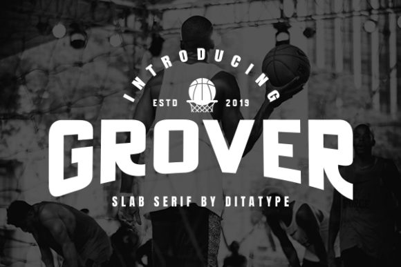 Print on Demand: Grover Display Font By Ditatype