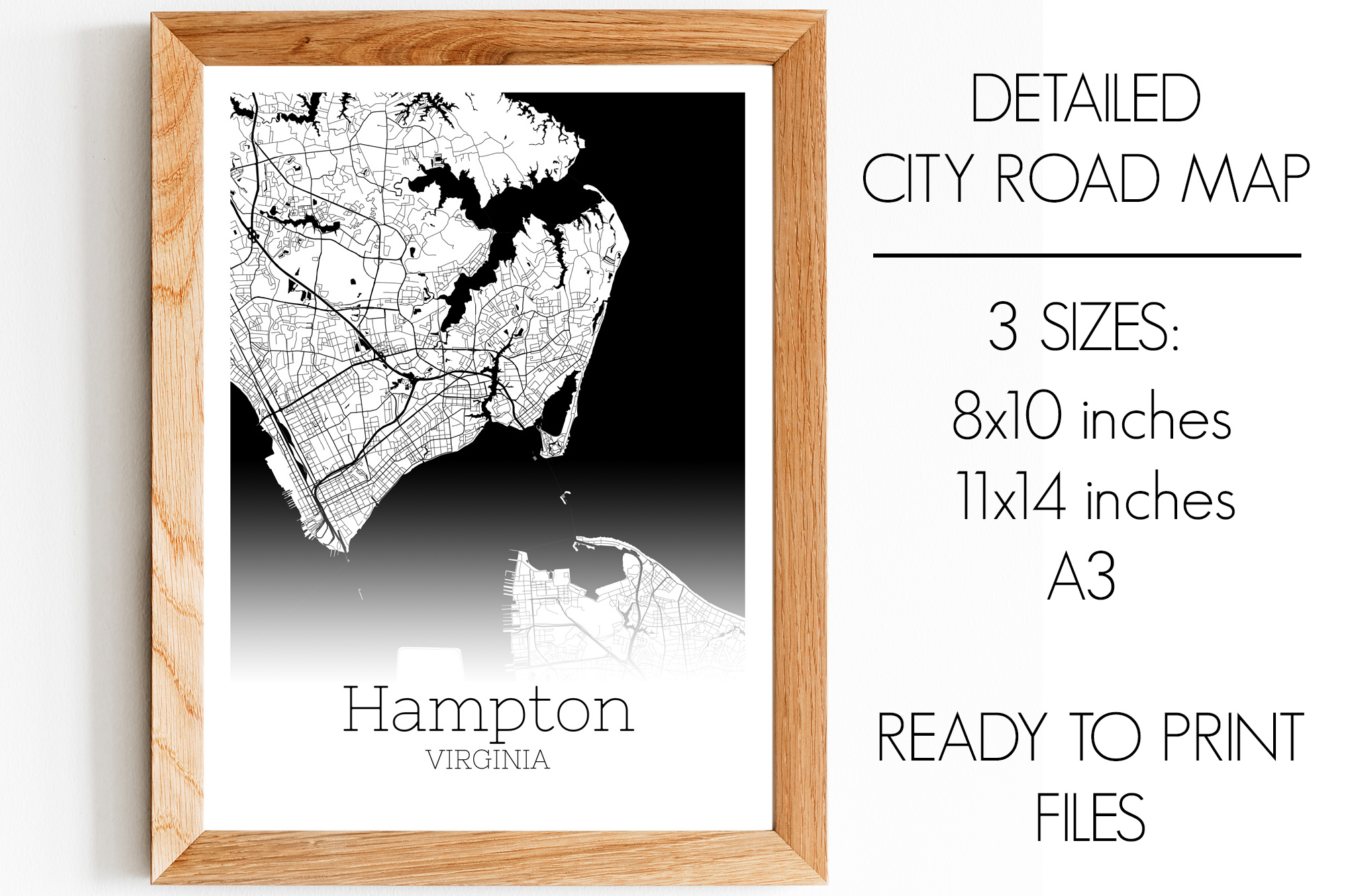 Download Free Hampton Virginia City Map Graphic By Svgexpress Creative Fabrica for Cricut Explore, Silhouette and other cutting machines.