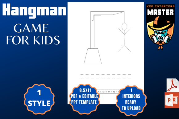 Print on Demand: Hangman Puzzle Graphic KDP Interiors By KDP_Interiors_Master