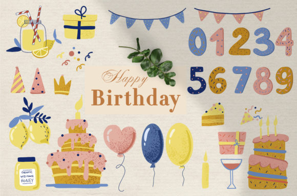 Print on Demand: Happy Birthday Collection Graphic Illustrations By By Anna Sokol