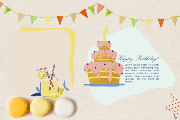 Download Free Happy Birthday Collection Graphic By By Anna Sokol Creative for Cricut Explore, Silhouette and other cutting machines.