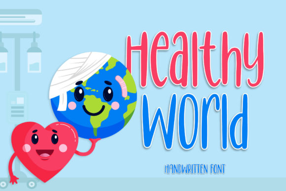 Download Free Healthy World Font By Brandsemut Creative Fabrica for Cricut Explore, Silhouette and other cutting machines.