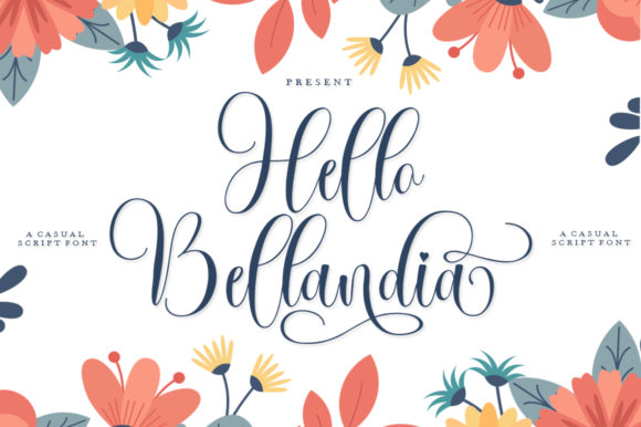 Print on Demand: Hello Bellandia Script & Handwritten Font By IM Studio - Image 1