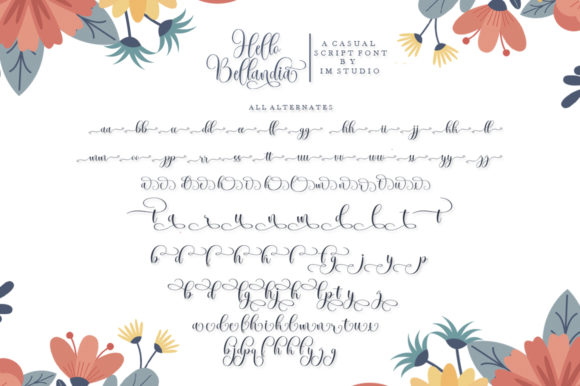 Print on Demand: Hello Bellandia Script & Handwritten Font By IM Studio - Image 7
