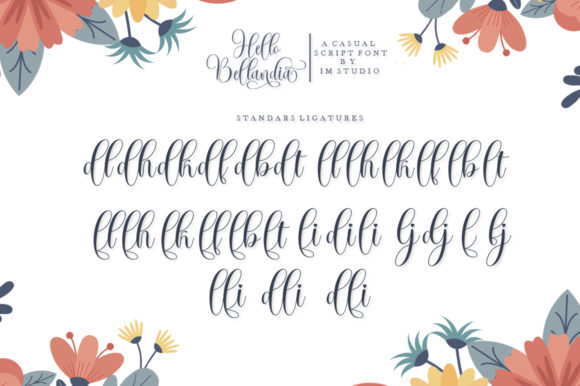 Print on Demand: Hello Bellandia Script & Handwritten Font By IM Studio - Image 8