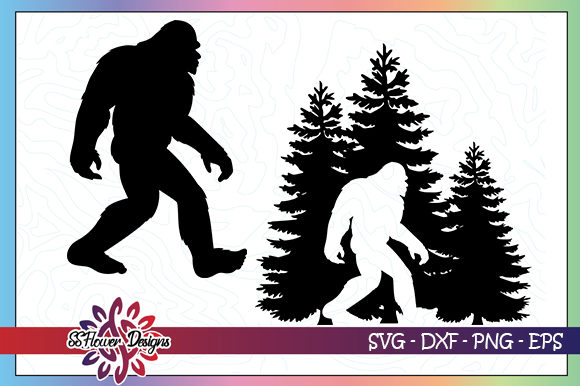 Download Free Hide And Seek Bigfoot Bundle Graphic By Ssflower Creative Fabrica for Cricut Explore, Silhouette and other cutting machines.