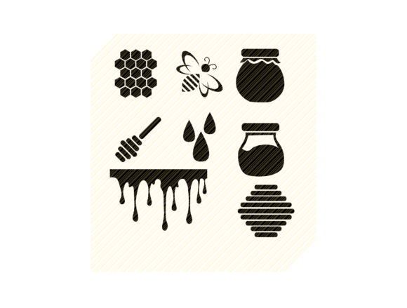 Honey Icons Graphic Crafts By SVGPlaceDesign