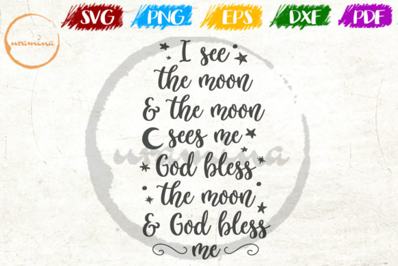 Download Free I See The Moon And The Moon Sees Me God Graphic By Uramina for Cricut Explore, Silhouette and other cutting machines.
