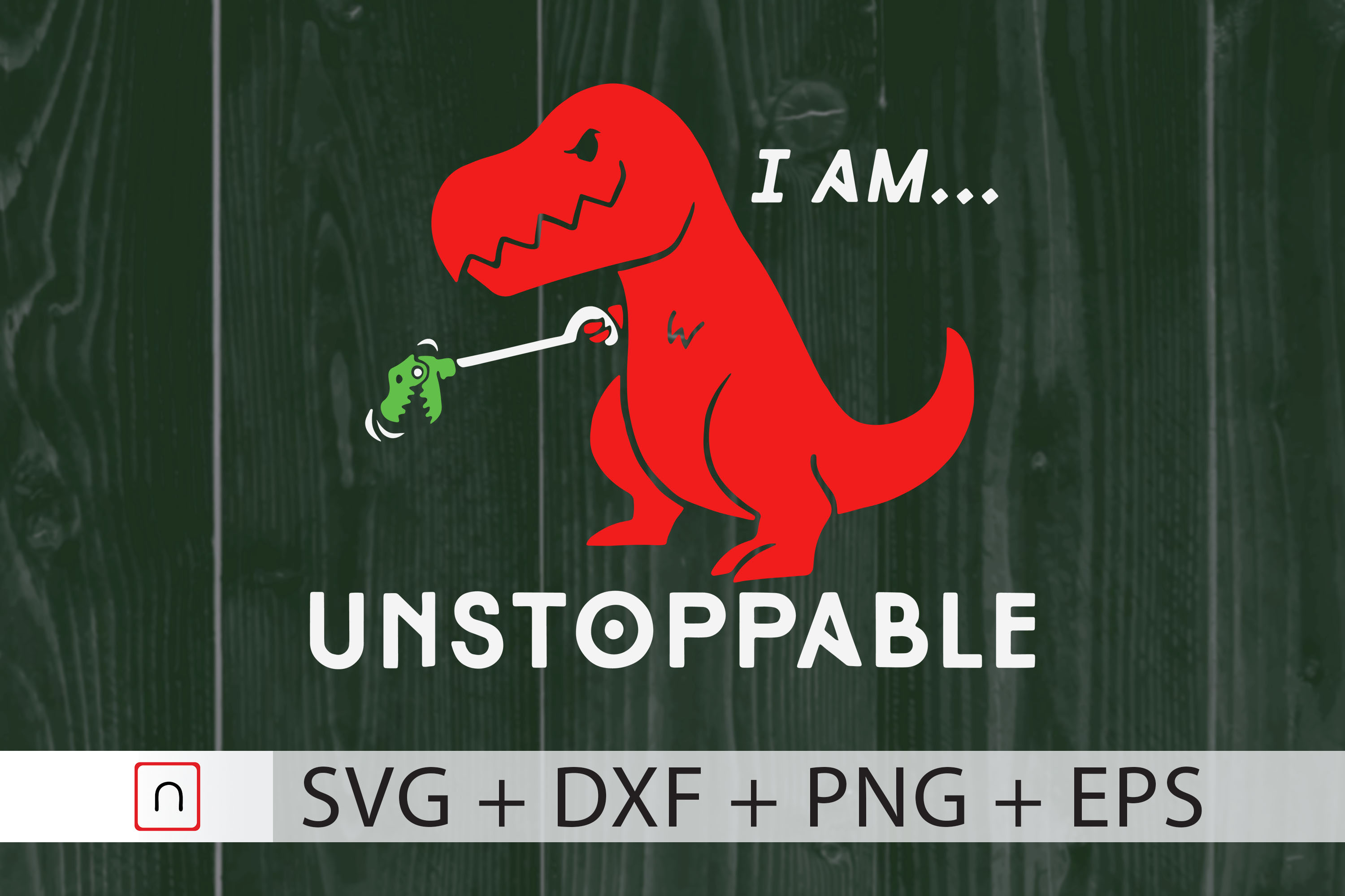 Download Free I Am Unstoppable T Rex Dinosaur Graphic By Novalia Creative for Cricut Explore, Silhouette and other cutting machines.