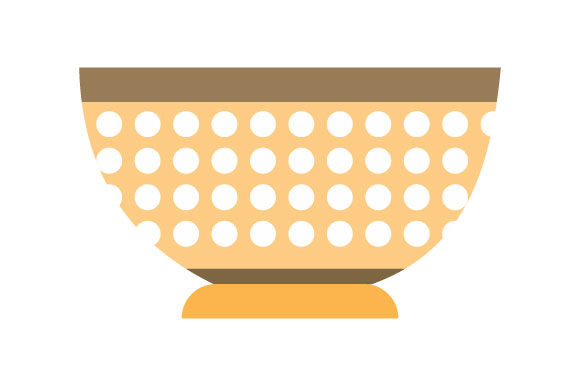 Download Free Illustration Of Hollow Bowl Texture Graphic By Yapivector Creative Fabrica for Cricut Explore, Silhouette and other cutting machines.