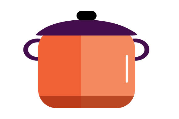 Download Free Illustration Of Large Orange Pot Graphic By Yapivector for Cricut Explore, Silhouette and other cutting machines.
