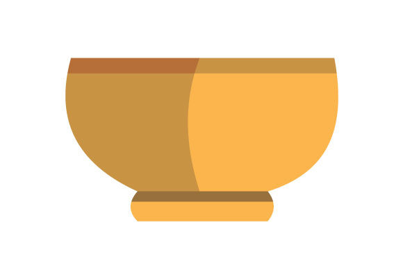 Download Free Illustration Of Large Yellow Bowl Graphic By Yapivector for Cricut Explore, Silhouette and other cutting machines.