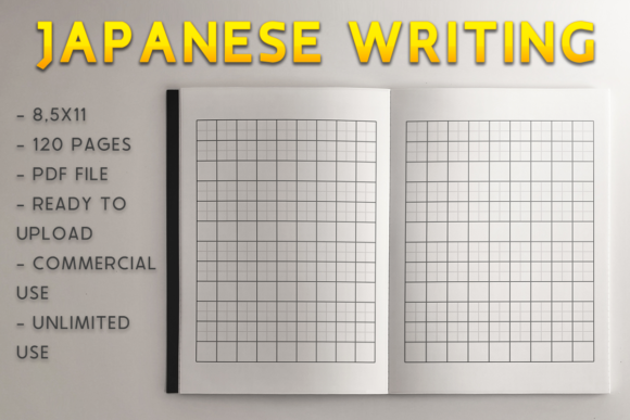 Print on Demand: Japanese Writing Book | KDP Template Graphic KDP Interiors By KDP Product - Image 1