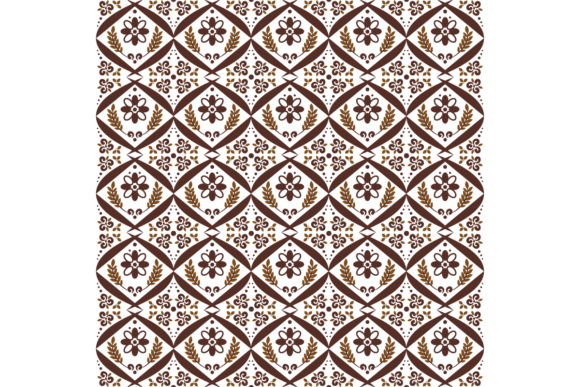 Javanese Batik Pattern Graphic Backgrounds By cityvector91