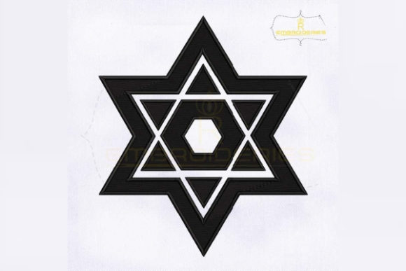 Judaism Star of David Religion & Faith Embroidery Design By RoyalEmbroideries