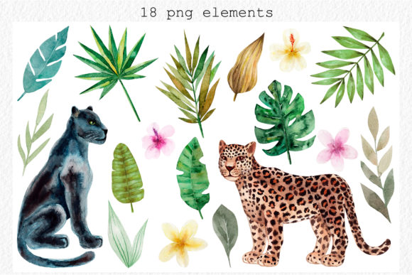 Download Free Jungle Animals Watercolor Patterns Graphic By Slastick for Cricut Explore, Silhouette and other cutting machines.