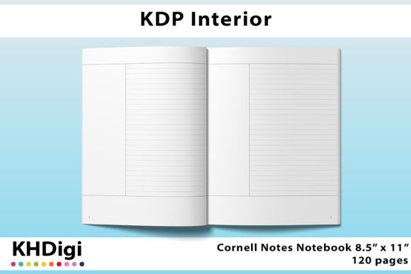 Print on Demand: KDP Interior - Cornell Notes  Graphic KDP Interiors By KHDigi