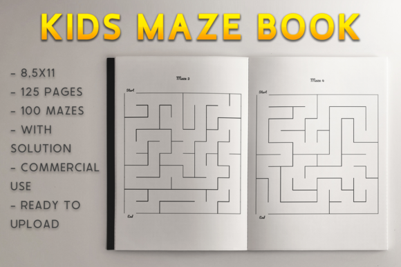 Print on Demand: Kids Maze Book | KDP Template Graphic KDP Interiors By KDP Product