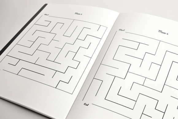 Print on Demand: Kids Maze Book | KDP Template Graphic KDP Interiors By KDP Product - Image 2