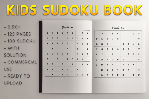 Print on Demand: Kids Sudoku Book | KDP Template Graphic KDP Interiors By KDP Product