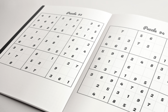 Download Free Kids Sudoku Book Kdp Template Graphic By Kdp Product for Cricut Explore, Silhouette and other cutting machines.