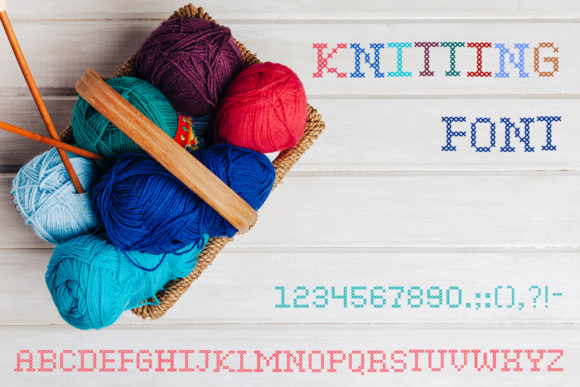 Print on Demand: Knitting Script & Handwritten Font By OWPictures