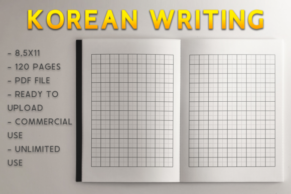 Print on Demand: Korean Writing Book | KDP Template Graphic KDP Interiors By KDP Product