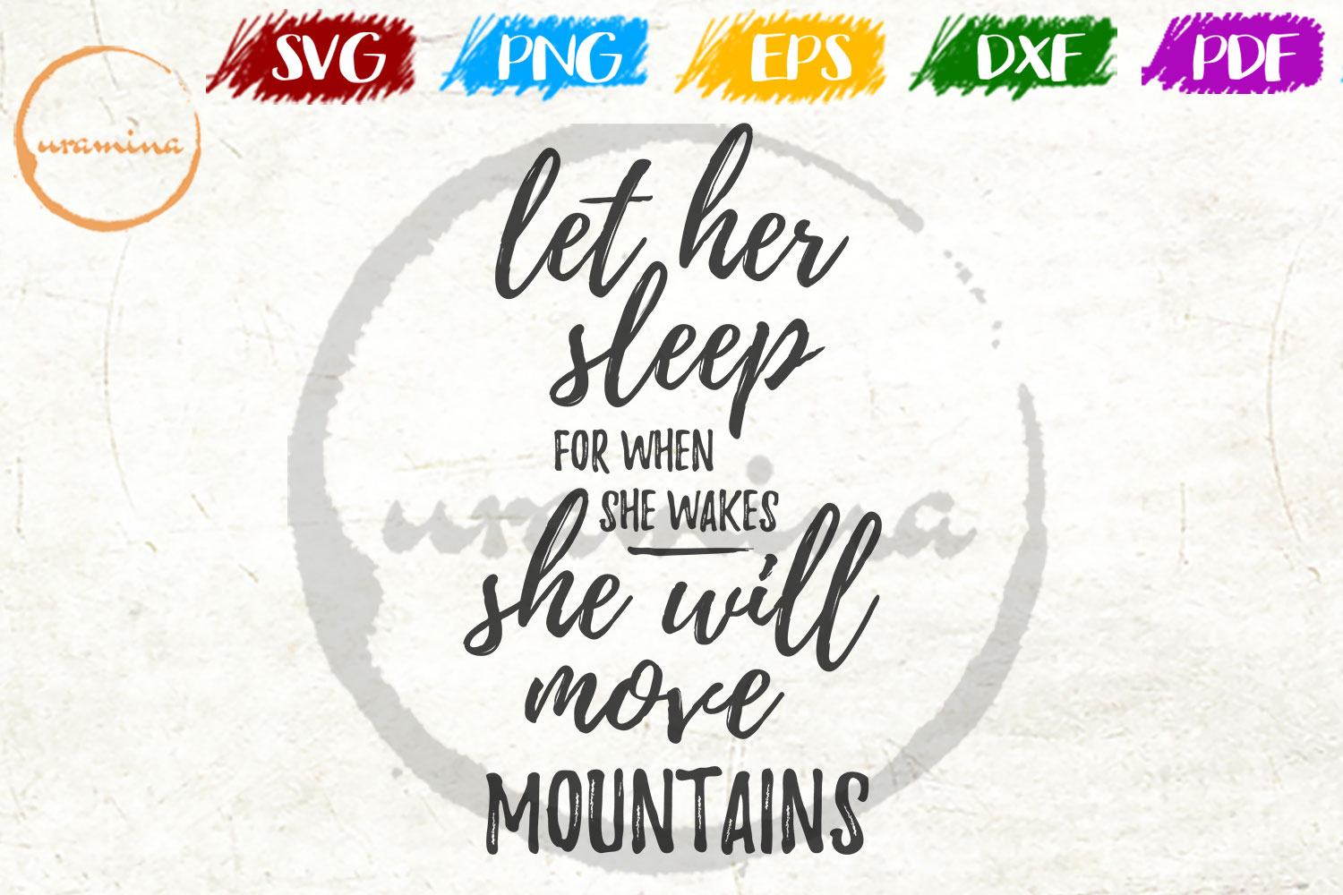 Download Free Let Her Sleep For When She Wakes Grafico Por Uramina Creative for Cricut Explore, Silhouette and other cutting machines.