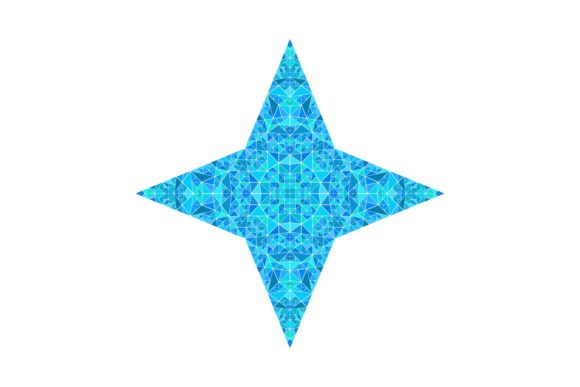 Download Free Light Blue Mosaic Star Design Graphic By Davidzydd Creative for Cricut Explore, Silhouette and other cutting machines.