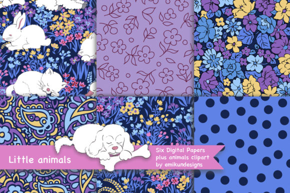 Download Free Little Animals Graphic By Emikundesigns Creative Fabrica for Cricut Explore, Silhouette and other cutting machines.