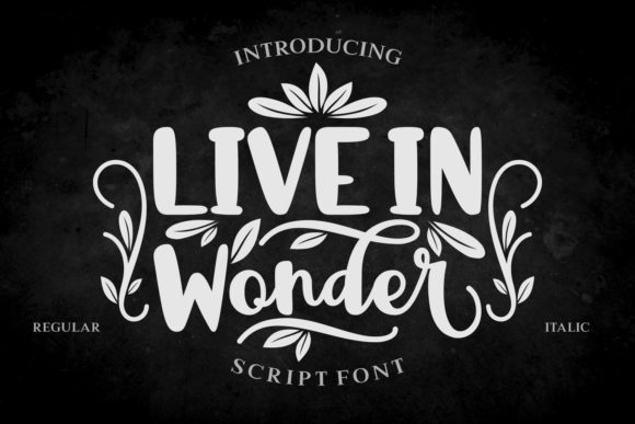 Print on Demand: Live in Wonder Script & Handwritten Font By Rifki (7ntypes)