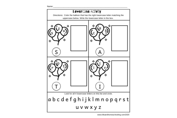 Lowercase Activity Worksheets Graphic PreK By lifeandhomeschooling
