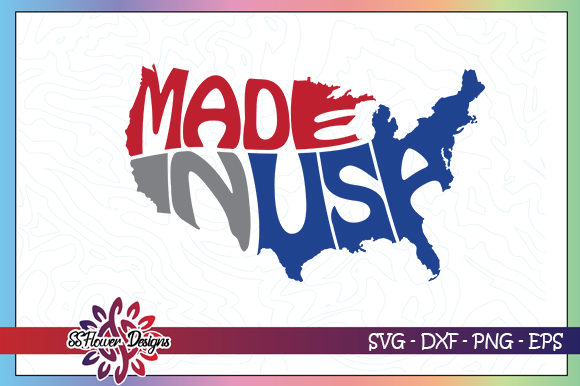 Download Free Made In Usa Map Graphic By Ssflower Creative Fabrica for Cricut Explore, Silhouette and other cutting machines.