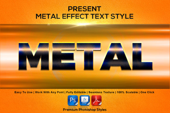 Metal Text Effect Style Graphic Layer Styles By MualanaDesign