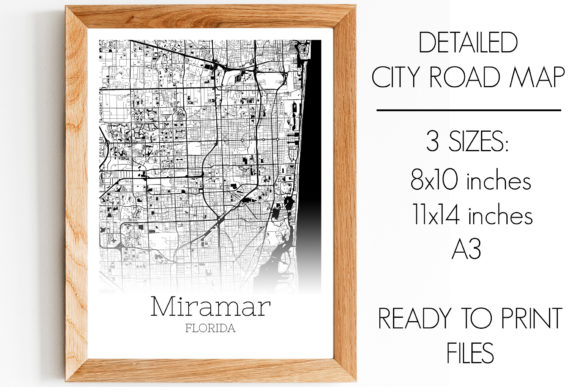 Download Free Miramar Florida City Map Graphic By Svgexpress Creative Fabrica for Cricut Explore, Silhouette and other cutting machines.