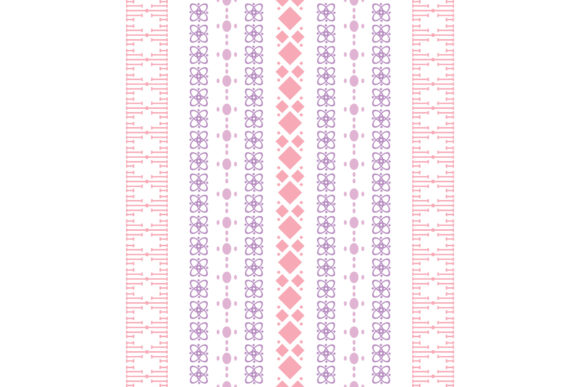 Modern Stitches Pattern on Embroidery Graphic Backgrounds By stockfloral